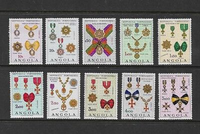 ANGOLA - mint 1967 Military Decorations, Medals, set of 10, MNH MUH