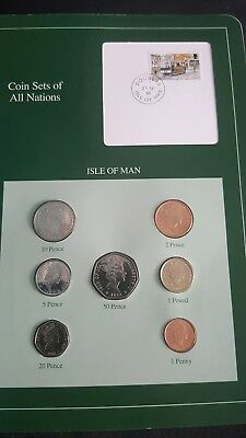 Isle of man 1988 coin set fdc stamp technology computer mobile phone