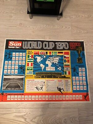 World Cup 1970 Wallchart mexico large