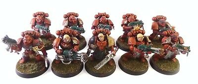 Warhammer 40k Space Marines Blood Angels Tactical Squad Painted