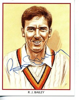 County Print Card: Northamptonshire Cricketers SIGNED by Rob Bailey