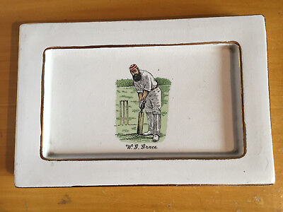 "1940/50s Large WG Grace Ceramic Ashtray by Britannia Designs 9x6"" vgc gold edges"