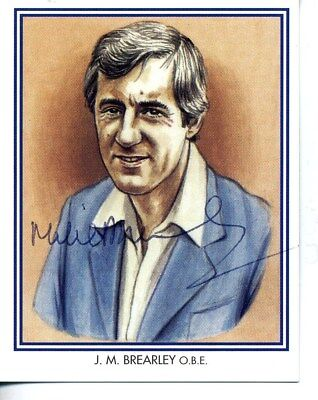 County Print Card: Middlesex Cricketers SIGNED by Mike Brearley