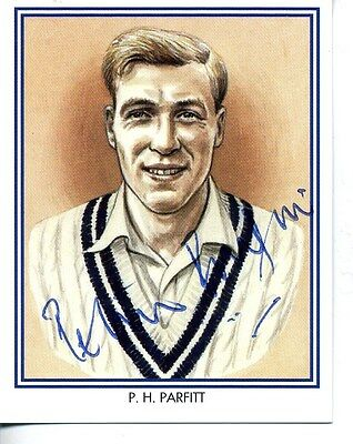 County Print Card: Middlesex Cricketers SIGNED by Peter Parfitt