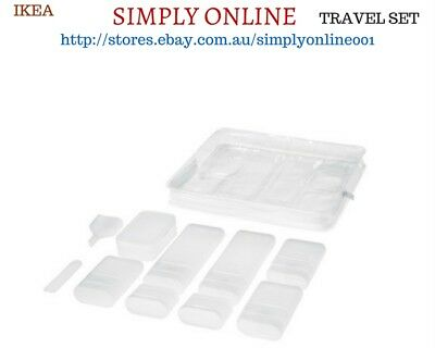 2 Set of IKEA 10 Piece Travel Organiser Set - Travel Accessories - Free Postage
