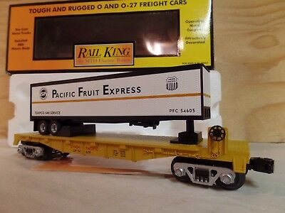 Mth Rail King Up Union Pacific Flat Car W/pfe Fruit Express Trailer 30-76264