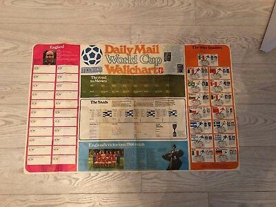 World Cup 1970 Wallchart large in original wrapper good condition