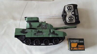 remote control toy tank and pellets for firing
