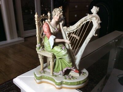 19TH C GERMAN SITZENDORF PORCELAIN FIGURINE, Signed