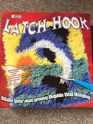 Latch Hook Kit Wall Hanging..Dolphin..new In Box