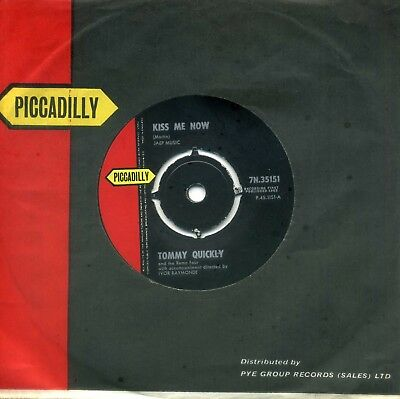 TOMMY QUICKLY & THE REMO FOUR - 'Kiss Me Now' (Piccadilly 1963) Superb Ex 45.