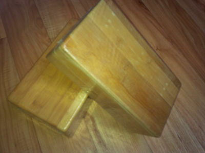 2 x Bamboo Yoga Block Brand New Cellophane wrapped LAST SET