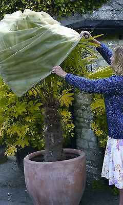 Two Haxnicks Large Easy Fleece Jackets Plant Frost Protection Cover 1.8m x 1.2m