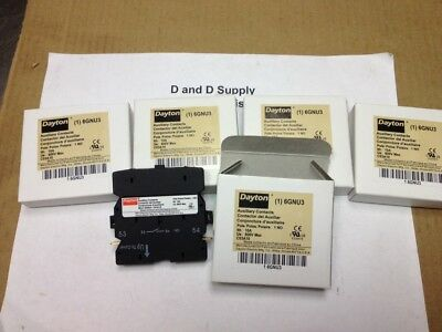 **Lot of 5**, DAYTON 6GNU3, Auxiliary Contacts, 10 Amps, Definite Purpose, New