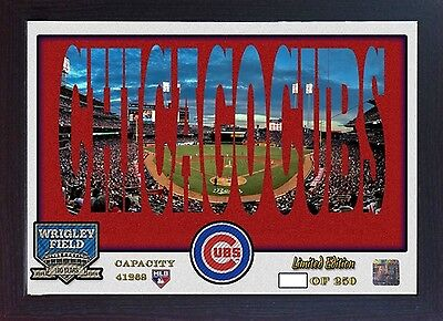 Chicago Cubs Wrigley Field MLB Baseball Memorabilia poster photo picture Fremed