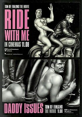 Gb 2017 Tom Of Finland Gay Icon Motorcycles Biker Smoking Movie Postcards Mnh