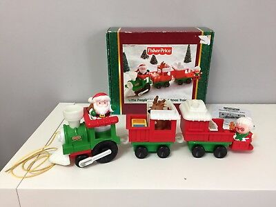 RARE Complete with Box Fisher Price Little People Musical Christmas Train