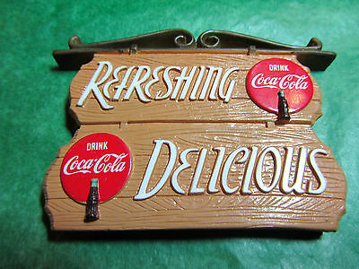 REFRESHING DELICIOUS DRINK COCA-COLA SIGN MAGNET Lot#233