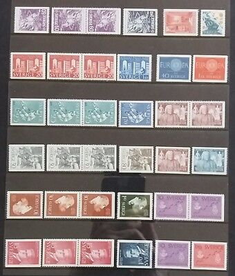 Sweden - Lot MNH - All Different and Engraving = Cz Slania