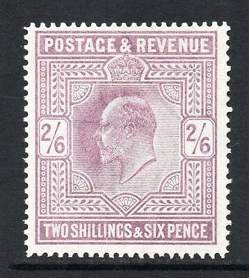 GB KEVII SG260 2/6d Lilac Mint Lightly Hinged Cat £280