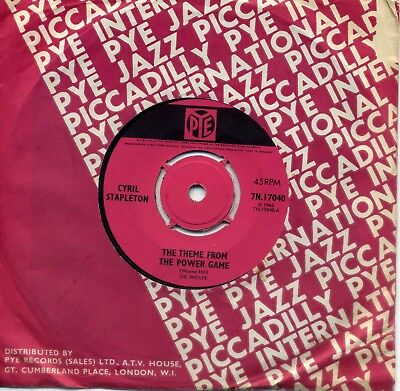 CYRIL STAPLETON - 'Theme From The Power Game' (Pye 1966) Superb Excellent 45.