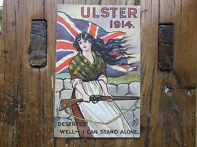 Old Irish Ulster Loyalist Postcard WWI King William Defence