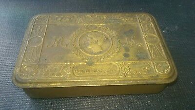 Ww1 Queen Mary 1914 Christmas Tin