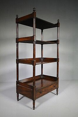 Regency Antique Painted Pine What Not Open Shelving.