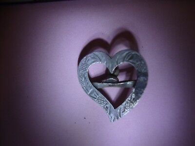 Hallmarked silver heart pendant - unresearched metal detecting find