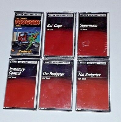 Timex Sinclair TS1000 Game and Software Bundle LOT (ZX81) - Frogger - Bat Cage +