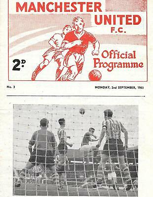 Manchester United Reserves v Chesterfield Reserves 3/9/1963 . With Token