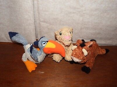 "9"" Disney Lion King Zazu Nala Pumba soft plush toy figure fluffy beanies doll"