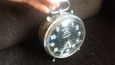 Rare Old Vintage WEHRLE THREE IN ONE ALARM CLOCK WORKING CONDITION