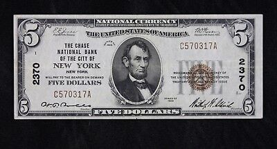 $5 1929 brown seal National Currency charter 2370, C570317A five dollar FREESHIP