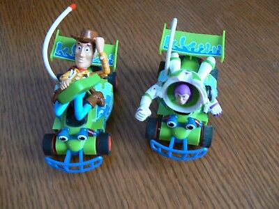 Toy Story Buzz And Woody Micro Scalextric Cars.hard To Find.nice Condition