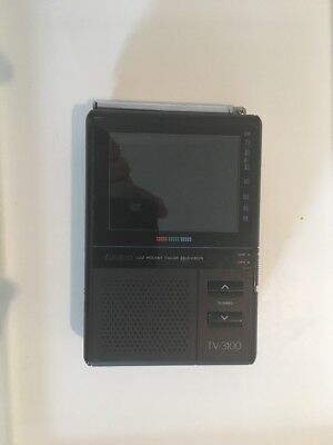 """Very Rare Casio TV-3100 Handheld Colour TV 3.3"""" LCD Untested"""