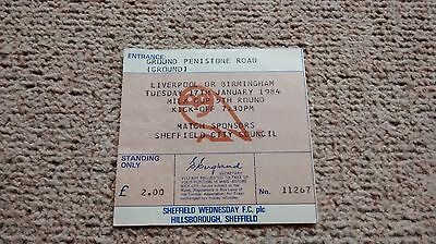 1984 SHEFFIELD WEDNESDAY v LIVERPOOL (WINNERS) TICKET LEAGUE CUP  LFC YNWA