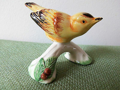 Yellow Porcelian Bird Figurine by A DUE TOSIN of ITALY-Item# 2495/2