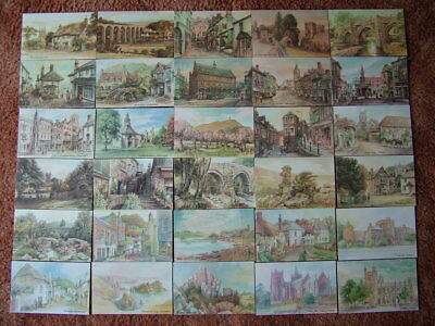 30 Unused Postcards From ORIGINAL WATERCOLOURS by DAVID SKIPP. Mint condition.