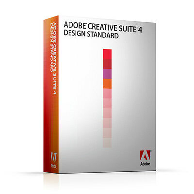 ADOBE Photoshop CS4 + Indesign + Illustrator  deutsch MAC Vollversion MWST BOX