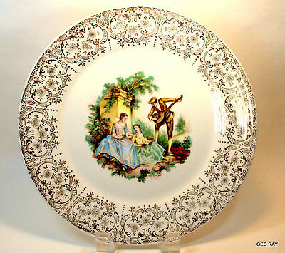 Vintage American Limoges Triumph China D'or 22K Gold Dinner Plate