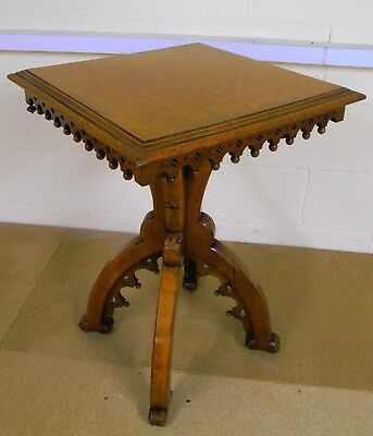 Gothic Rivival Hall Table, Possibly Victorian.
