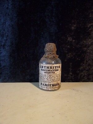 "SMALL SIZED RADITHOR BOTTLE (RADIO ACTIVE MEDICINE) replica 3.5"" TALL"