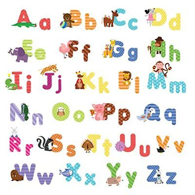 Animal Alphabet Wall Decals Baby and Toddler Decor Fun abc Stickers for Nursery