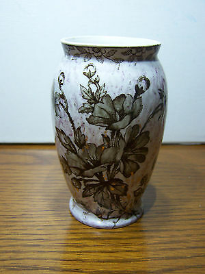 "Ridgways ""Chester"" Brown Transfer Vase - Awesome! (CS)"