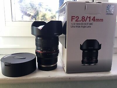 Samyang 14 mm f2,8 for Sony FE (non autofocus)