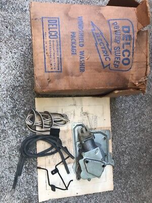 NOS GM Delco Vintage 1950s Or 60s Washer Pump Pontiac Olds  Buick Cadillac