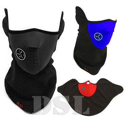 Black BIKE MOTORCYCLE SKI THERMAL FACE NECK WARMER MASK BALACLAVA OUTDOOR SPORT