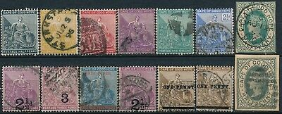 Cape Of Good Hope , Unchecked Nice Lot Of Different Used Stamps, See...    #t990