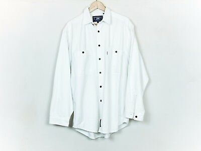 Levi's vintage 90s white denim shirt size Large